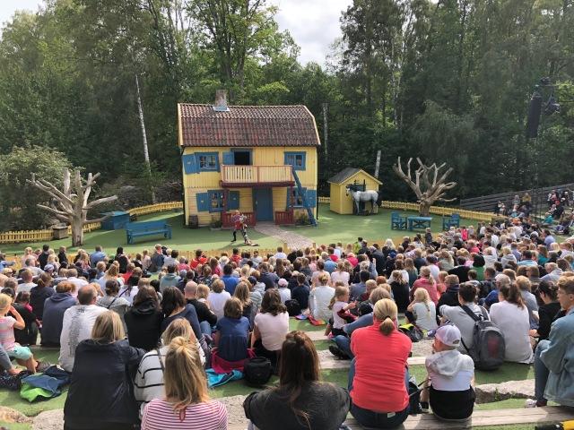 Pippiföreställning på Astrid Lindgrens värld