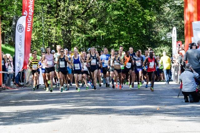 Kretsloppet starten 2018 milloppet. Jag i grönt. Foto: Christer Falk.