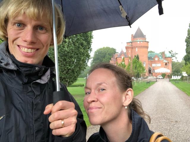 Ida och jag vid Hjularöds slott