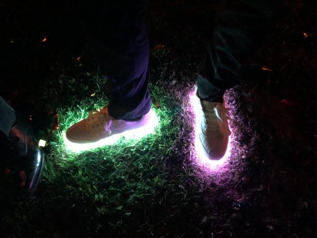 Sjukt coola skor som Rickard, Marika, Andrea och Tom bytte om till på kvällen