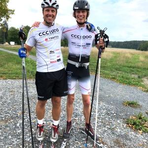 Fredrik Erixon och jag efter testrundan på Ekerö