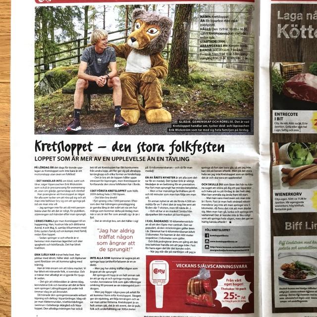 ICA City-bilagan som kom med Borås Tidning måndag 10 september 2018