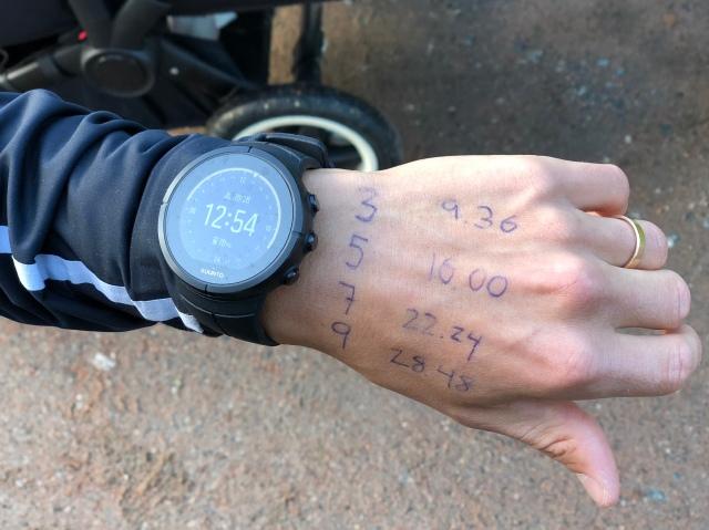 Jakob Böhm skrev upp mellan tider för sub 32 på handen. Det räckte nästan. Nytt pers med otroliga 32.15 min. Borås just nu bästa löpare.