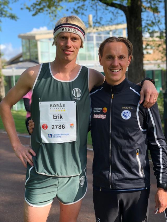 Jakob Böhm och jag före start