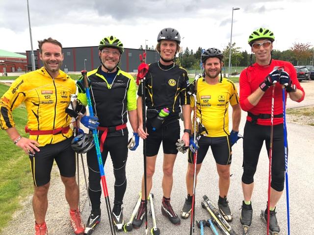 John Enander, Peder, jag, Linus Svensson och Mattias Nygren. UIF långlopp.