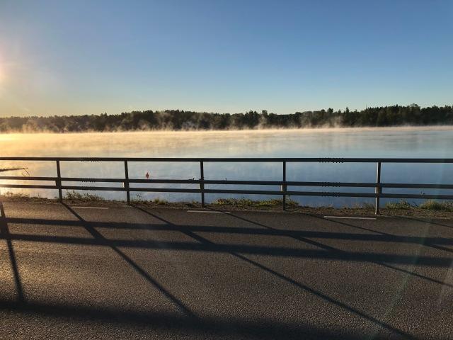 Fint på Viaredssjön mellan Sjömarken och Sandared igår