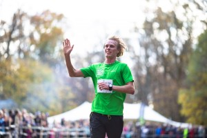 Rya Åsar Trail Run 2018 målgång Erik Wickström. Foto: Masaya.