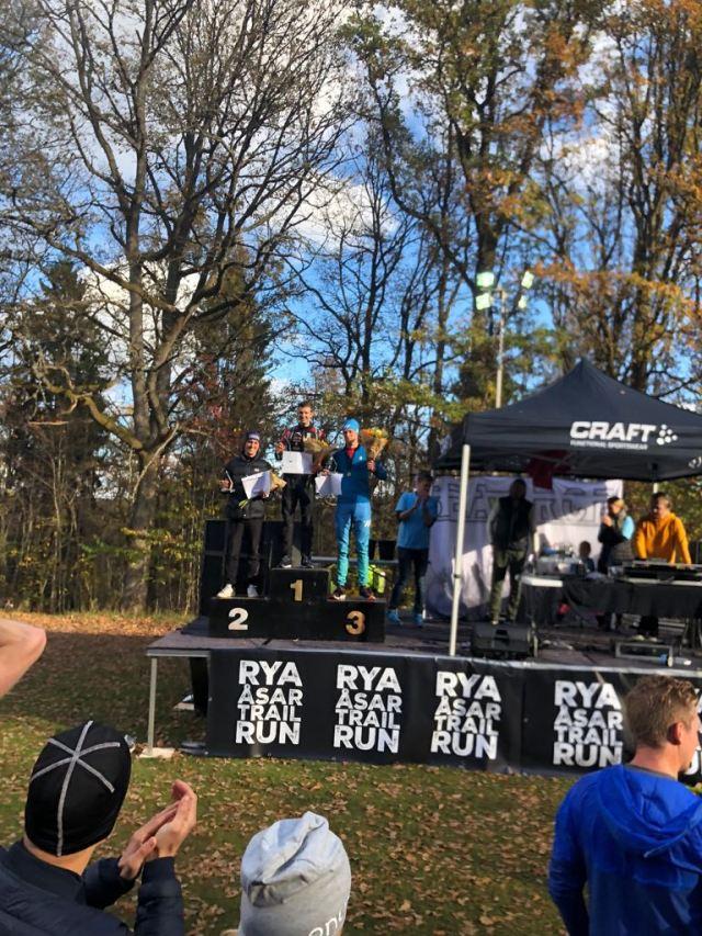 Rya Åsar Trail Run 2018 pallen herrar