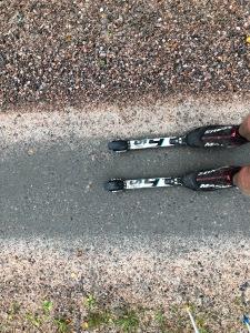 Ett av veckans träningspass var 5000 m SkiErg direkt följt av en dryg timmes halvhård stakning ut till Aplared.