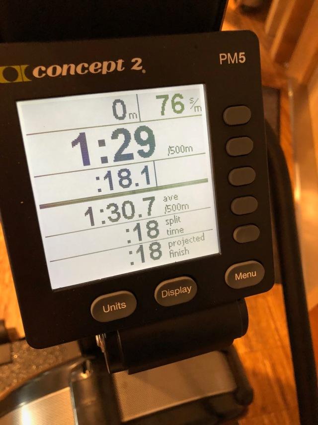 100 meter SkiErg på 18.1 s