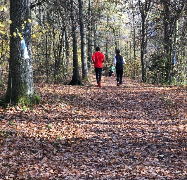 Löpning på Rya Åsar i Borås