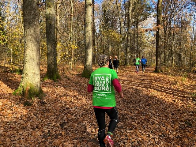 Rya Åsar Trail Runs arrangörstischa var fin i år också. Löpning. Trail.