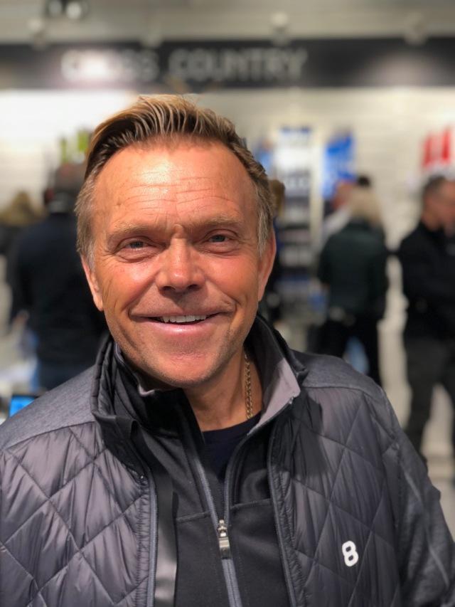 Peder Öberg, pistmaskinsförare på Borås skidstadion. Bland de bästa i norra Europa på att dra spår.