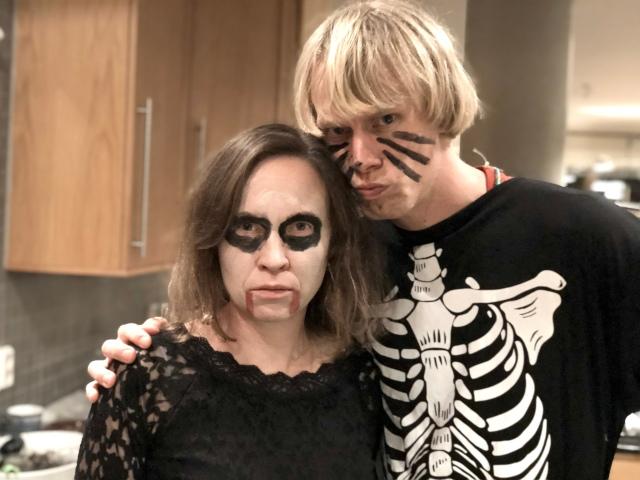 Ida och jag på Halloween