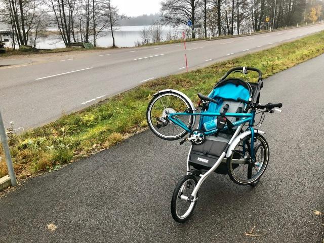 En Islabikes på en Thulevagn vid Viaredssjön mellan Sjömarken och Sandared