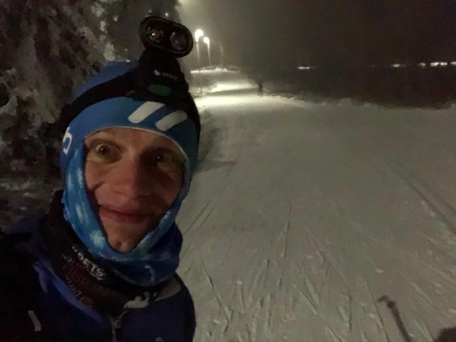 Under fredagens tekniklektioner höll jag till på denna sträcka på ca 100 m större delen av de 6 timmarna jag stod på skidor
