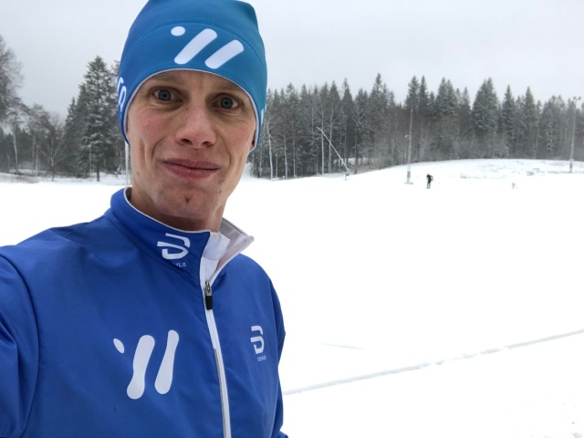 Det var lite grått på Borås skidstadion idag, men inte gråare än att jag körde en tekniklektion på 2 timmar följt av en timmes lugn skejtträning