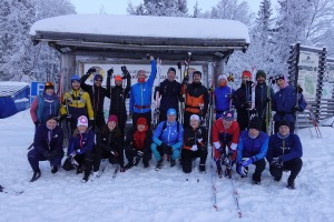 Vasaloppsläger i Grövelsjön 2019. Gruppbild.