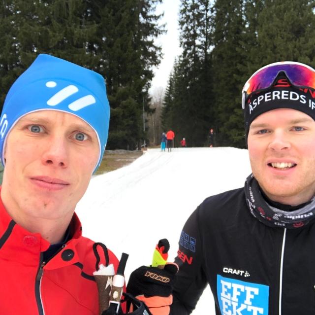 Simon Grenlöv var med första timmen. Hans första pass efter sin 8:e förkylning sedan 15 oktober.