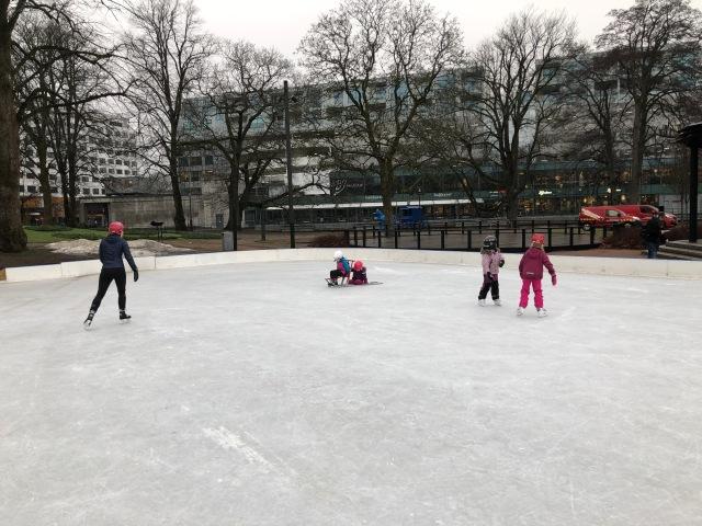 Isbanan i stadsparken i Borås