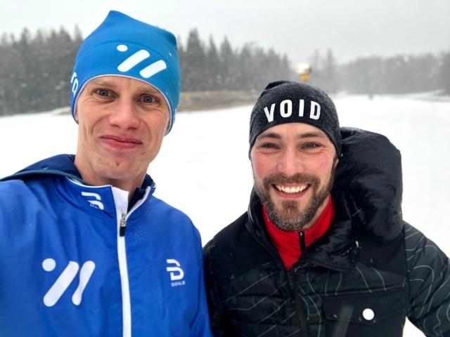 Peter Algebäck hoppas kunna utveckla sin längdskidåkning 2019. Bilden är tagen efter avslutad skidlektion på Borås skidstadion.