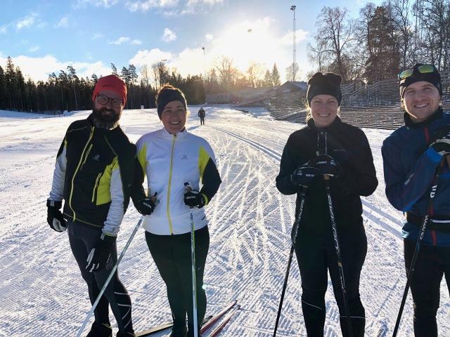 Lassalyckan i Ulricehamn. Viktor Ståhl (gick i min tyskagrupp på gymnasiet i Ulricehamn), Ida, Elina och Niklas Bergving.