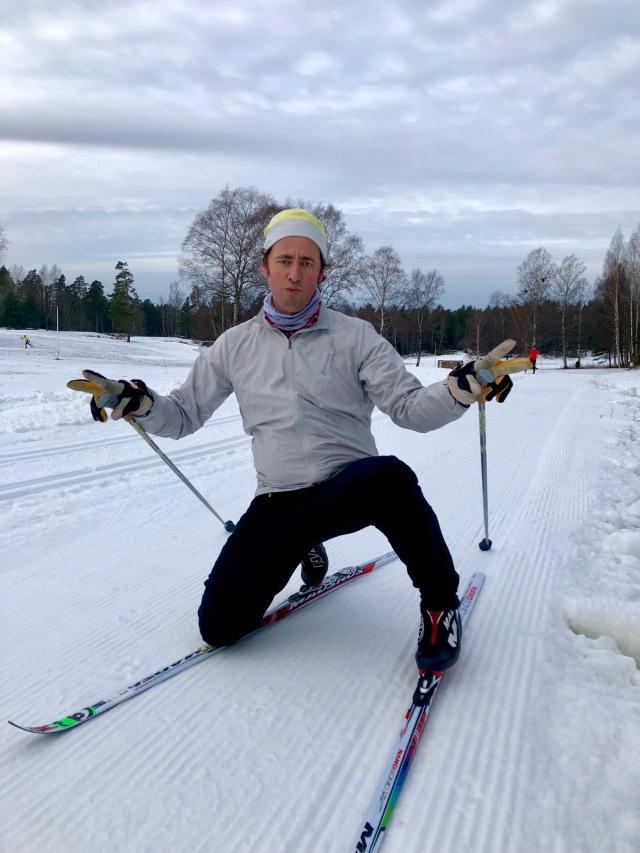 Niklas Bergh vid Saltsjöbadens skidspår