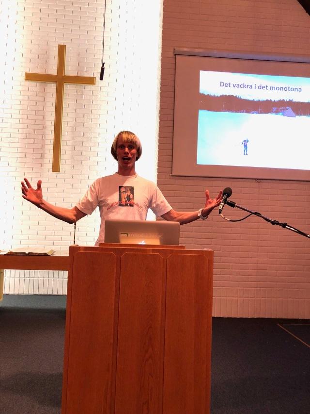 Kul att föreläsa i en kyrka
