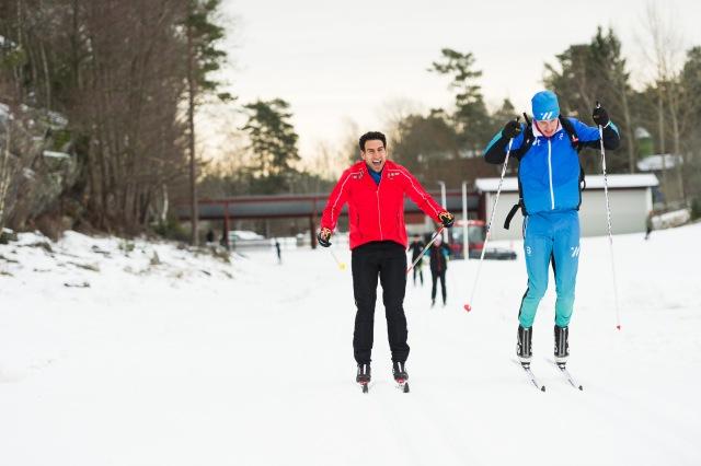 Stephan Wilson klarade sitt första Vasaloppet på 12 timmar efter en heroisk kämpainsats. Här från Saltsjöbaden i januari 2019. Foto: Luca Mara.