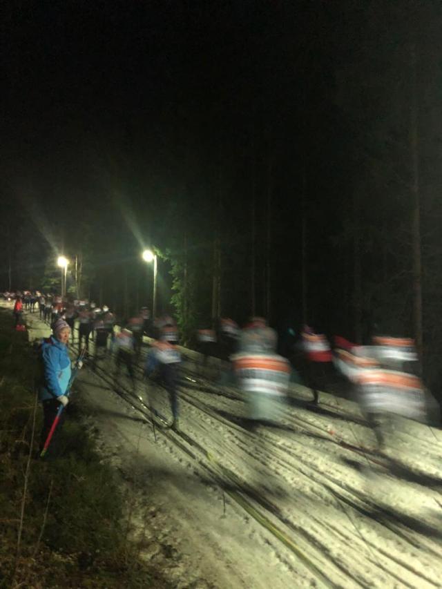 Starten Tranemo Midnight Skimarathon 2019. Foto: Martin Damm.
