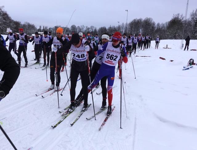 Starten Borås Ski Maraton 2019. Trassligt?