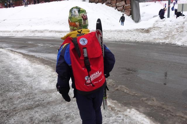 Alla deltagare i barnloppet fick en ryggsäck med godsaker.