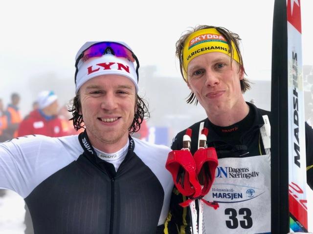 Efter Holmenkollmarsjen 2019. Minns inte vad denne killen hette, men han pratade i alla fall norska.
