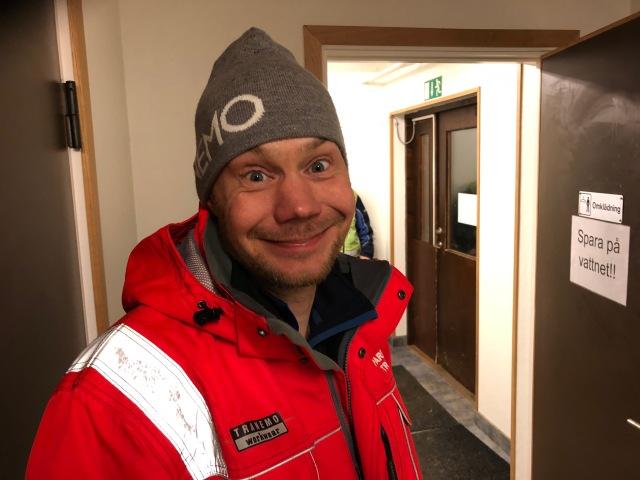 Christan Olsson, eller Christian Olßon med tyskt dubbel-s som det står i min telefonbok, lägger ungefär 800 ideella timmar per år. Utan honom och alla andra fantastiska eldsjälar i Tranemo och på andra orter blir det varken spår eller tävlingar. Tack!