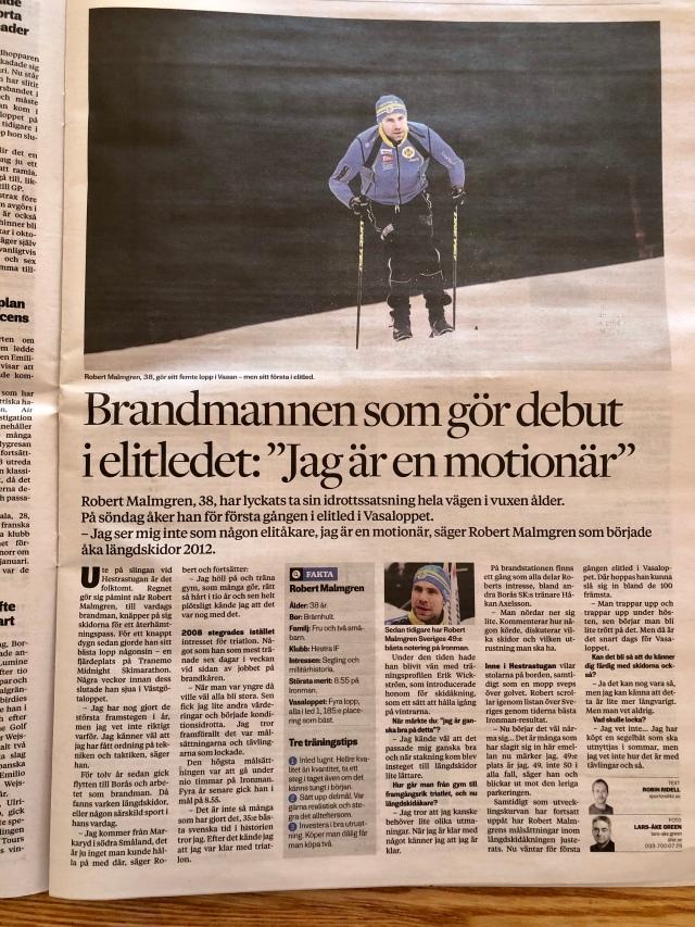 Robert Malmgren i Borås Tidning