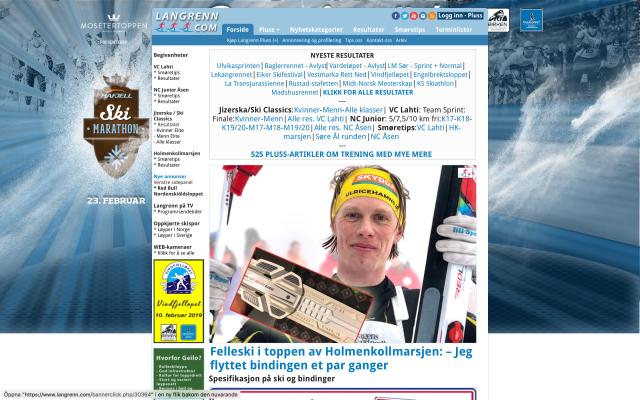 Langrenn.com angående Holmenkollmarsjen på skinskidor