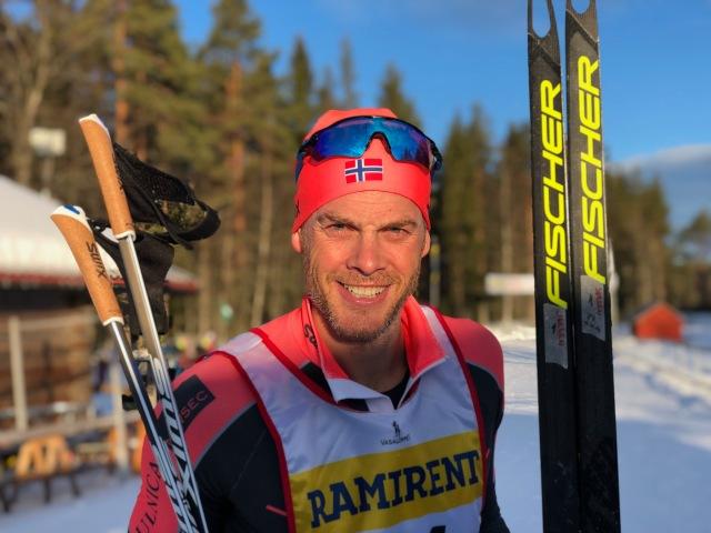 Jørgen Aukland drog största delen av sträcka 1 för att sedan bli nedspurtad.