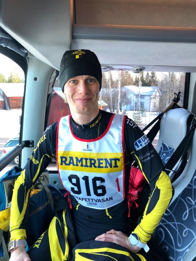 Stafettvasan 2019. Vasaloppets buss tillbaka till Sälen.