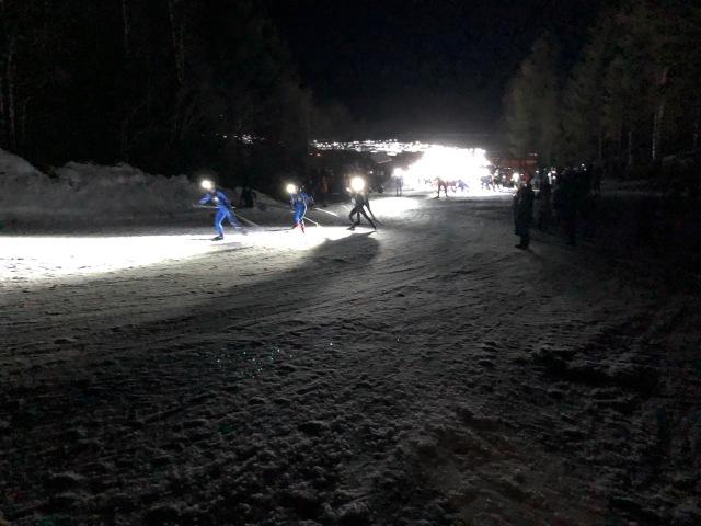 Nattvasan 2019 starten. Anders Södergren och Erik Andersson i spets.