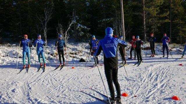 Wickström Coaching läger Orsa 2018. Instruktör. Skidlektion.