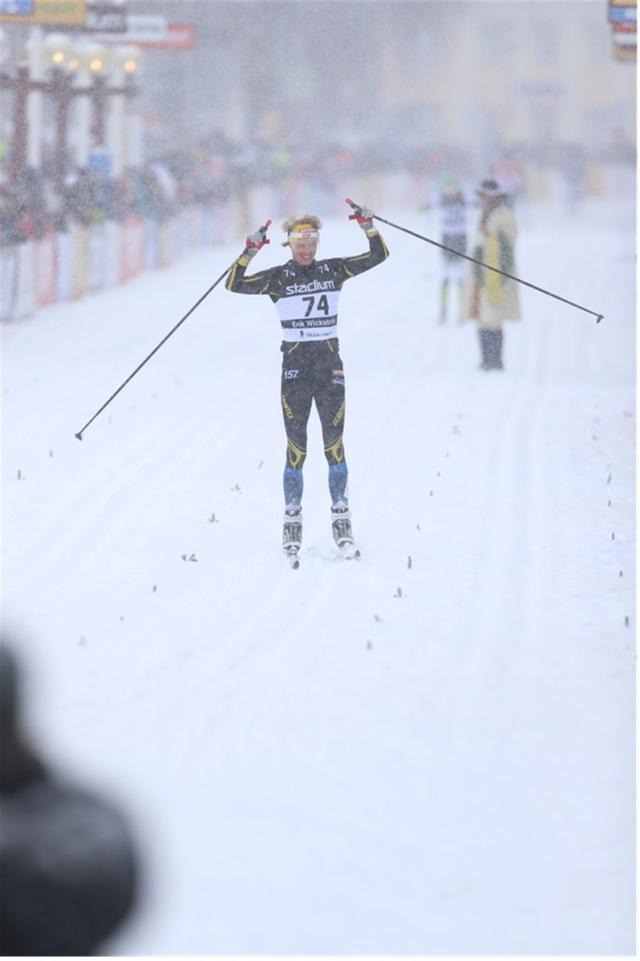 Målgång Vasaloppet 2019. Bilden har jag köpt från Photomic.