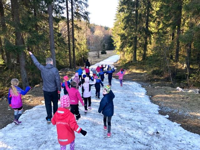 I tisdags var vi på orienteringen/skogsleken på Hestra för första gången i år (vi missade första tillfället då barnen var maskotar vid en fotbollsmatch)