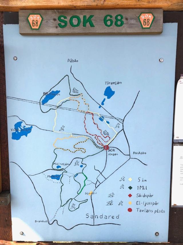 Skidspår och löpspår på Nordtorp i Backabo i Borås