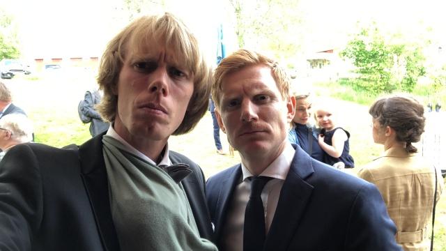 Martin Damm och jag med Stig i bärsjalen