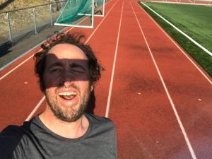 Niklas Bergh på löparbanan