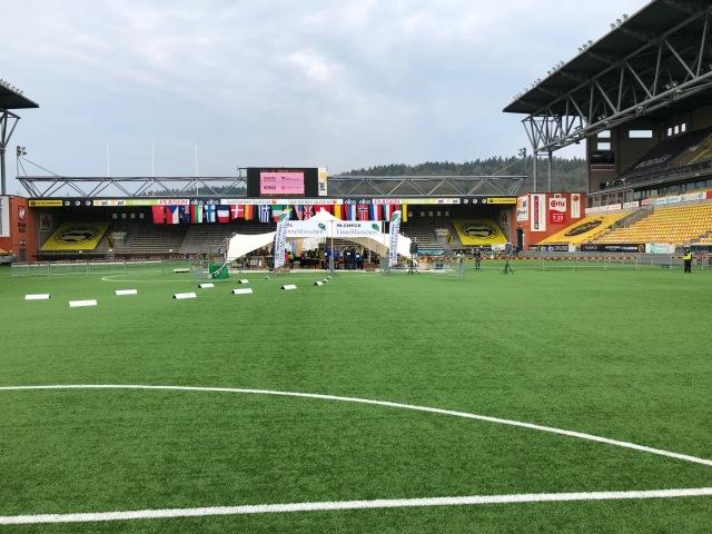 Linnémarschen på Borås Arena