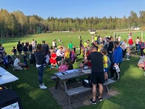 Fotbollsträning på Idrottsgården i Sjömarken