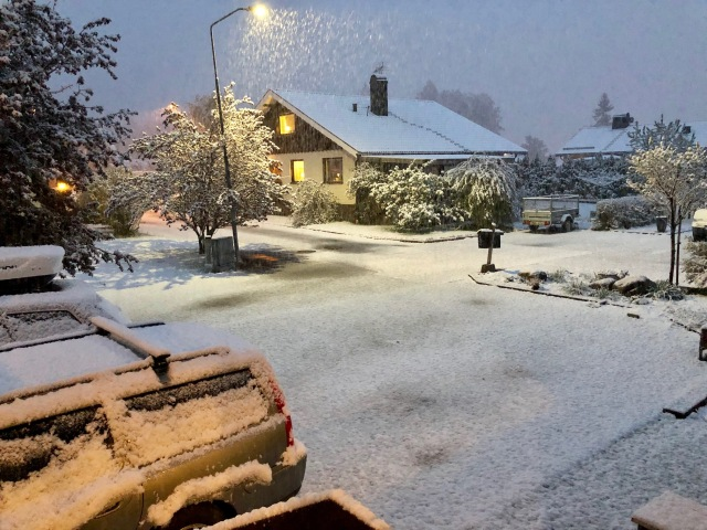 Snö i Borås
