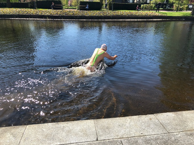 Simning i Viskan vid Sandwalls plats