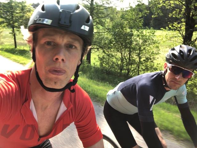 Jag tog en cykeltur med min gamla kompis Robin Liljeros i förra veckan. Han var riktigt stark, mycket vassare än mig.